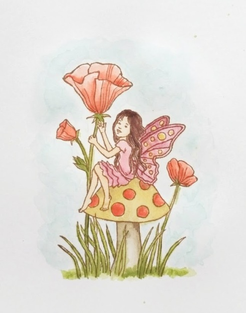 Fairy celebration watercolor