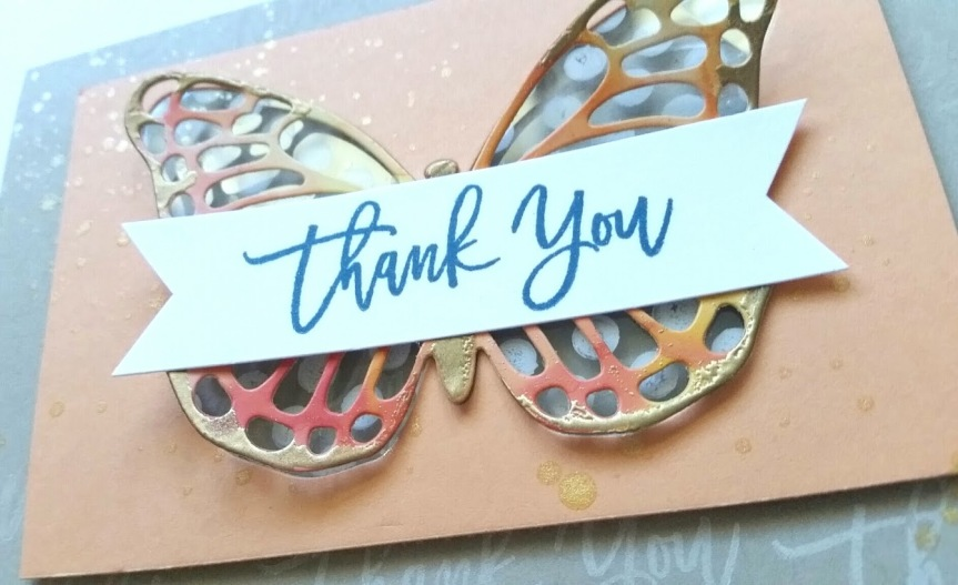 Butterfly thinlit insert notecard