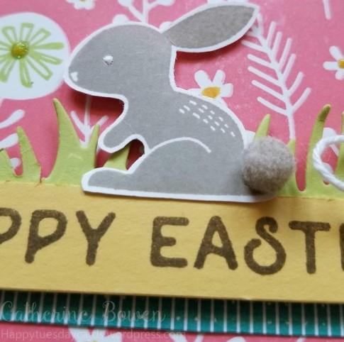 Bunny pompom closeup